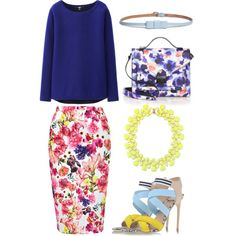 Flower happiness by valeria-verde on Polyvore featuring polyvore, fashion, style, Uniqlo, Louche, MSGM, Loeffler Randall and Maison Boinet