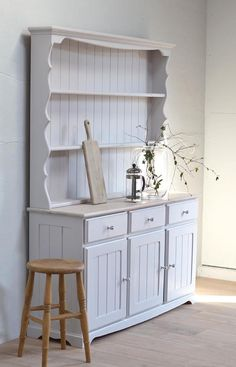 Sold/Not Available/Grey pine welsh dresser kitchen dresser