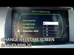 How to change welcome screen in #Audi MMI 2G #A4, #A5, #A6, #A8, #Q7 splash screen #cars