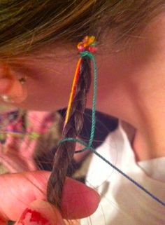 How to do one of those floss string hair wraps...