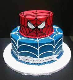 2-Tier Spiderman Cake