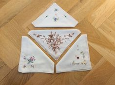 Vintage handkerchiefs hankerchiefs 4 hankies by TheLittleIrishShop Vintage Clothing, Vintage Outfits, Embroidered Gifts, Ready To Pop, Vintage Handkerchiefs, Something Old, Sentimental Gifts, Small Gifts, Special Day