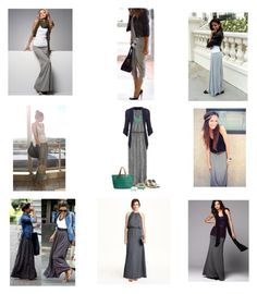 """The Grey Maxi Skirt"" by virgojen on Polyvore"
