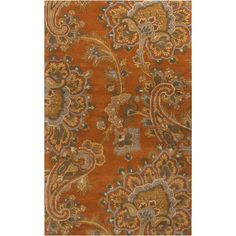 Chadsia Rust (Red) 3 ft. 3 in. x 5 ft. 3 in. Indoor Area Rug