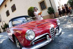 Alfa Giulietta - a special Wedding Car for your Tuscan Wedding