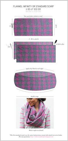 His & Hers: DIY Flannel Scarves Anleitung Loop Schal