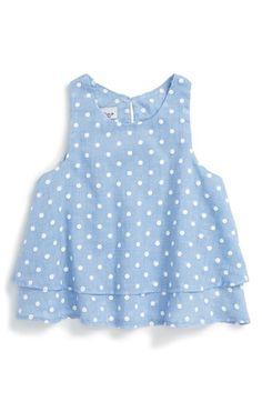 Pippa & Julie Polka Dot Sleeveless Top (Toddler Girls, Little Girls & Big Girls)