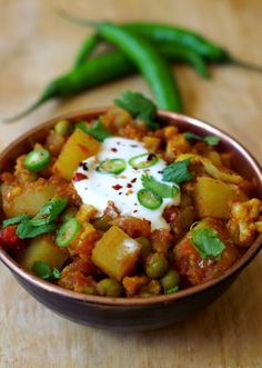 Tasty Indian recipe ... Potato, Pea and Cauliflower Curry