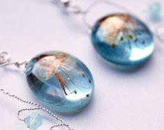 resin flower jewelry – Etsy