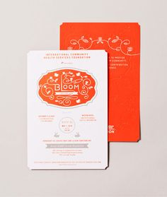 Seattle-based Yiu Studiodeveloped these vibrant print materials for the 2010 Gala for theInternational Community Health Services (ICHS),the largest Asian and Pacific Islander non-profit community health center in Washington State.