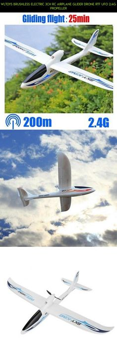 WLTOYS Brushless Electric 3CH RC Airplane Glider DRONE RTF UFO 2.4G PROPELLER #technology #gadgets #drone #plans #shopping #wltoys #racing #camera #kit #tech #glider #products #fpv #parts