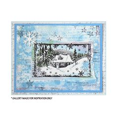 Crafty Individuals CI-463 - 'Little Cottage in the Snow' Art Rubber Stamp, 110mm x 64mm - Crafty Individuals from Crafty Individuals UK