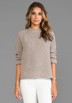 DEMYLEE Joseph Cashmere Pullover in Feather Hunter - New