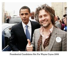 President Obama and Wayne Coyne