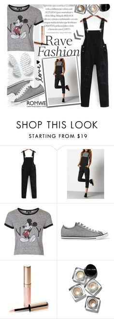 """""""Pocket Jumpsuit by ROMWE"""" by natasa-topalovic ❤ liked on Polyvore featuring Topshop, Converse, By Terry and Bobbi Brown Cosmetics"""