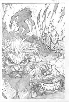 Savage Wolverine page by Joe Madureira