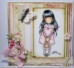 Jacqui Dennis ~ Gorjuss Girl. Such a pretty card.