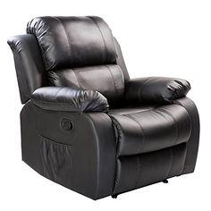 Cheap Merax PU Heated Massage Recliner Sofa Chair Ergonomic Lounge With 8  Vibration Motors Grey (black) ...