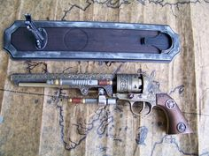 Steampunk+Colt+Revolver+by+WarFireForge+on+Etsy,+$95.00