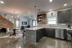 Craftsman Concrete Floors - Texas Concrete Floor Polishing, Staining, Sealing and Overlays Concrete Floors In House, Bathroom Concrete Floor, Epoxy Concrete Floor, Concrete Basement Floors, Kitchen Flooring, Cement Floors, Farmhouse Flooring, Polished Concrete, Modern Farmhouse Kitchens