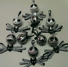Handmade Nightmare Before Christmas Ornaments (Jack Skellington set)