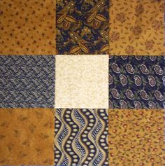 """New Ideas for a Very Old Block The sample block is made with 4 1/2"""" squares but you can make it with any size square you want. C..."""
