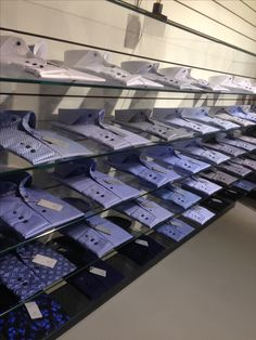 showroom sales Thomas Maine wall of dress shirts