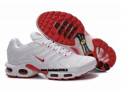 best sneakers 6d9cd 3a0db Nike Officiel Nike Air Max Tn Requin Tuned 1 Chaussures Pas Cher Pour Homme  Blanc-Rouge