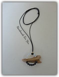 Long driftwood necklace. Chrysolithe and hematite necklace, yin and yang necklace.