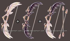 Not just creatures but weapons too. Anime Weapons, Fantasy Weapons, Armas Ninja, Weapon Concept Art, Cool Items, Wands, Art Reference, Art Drawings, Character Design