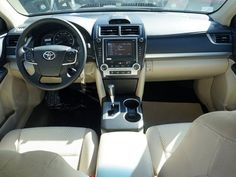 Toyota Camry 2014 Interior. Me and light color seats. Heck yeah. This is my Grown and Sexy whip.