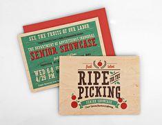 Senior Showcase Wood Invite