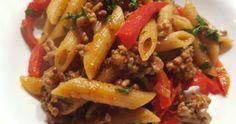 Paste cu Carne de Vita, Ardei Capia si Masline Paste, Beef, Food, Meat, Essen, Meals, Yemek, Eten, Steak