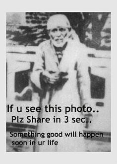 """Sai baba...and interesting man (even though I hate these """"Plz share"""" dealies)"""