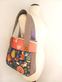 Primavera Shoulder Bag in Birch Organic Cotton from Do Not Push My Buttons! by DaWanda.com