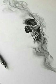 35 Ideas for drawing tattoo skull bones Skull Rose Tattoos, Skull Sleeve Tattoos, Skeleton Tattoos, Body Art Tattoos, Cool Tattoos, Skull Tattoo Design, Tattoo Design Drawings, Tattoo Sketches, Bild Tattoos