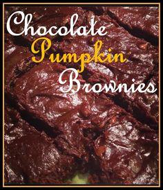 Chocolate Chip Pumpkin Brownies