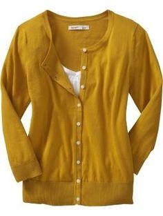Women's Lightweight 3/4-Sleeve Cardigans | Old Navy - StyleSays