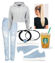 """""""starbucks #2"""" by professionalfangirl2306 on Polyvore featuring Topshop, Boohoo, NIKE, Alex and Ani and fashionset"""
