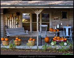 autumn porch...