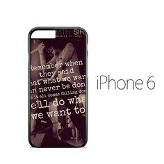 Sleeping With Sirens Lyrics iPhone 6 Case