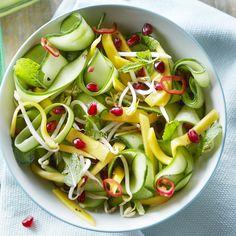 Jan Linders - Komkommersalade met mango en granaatappel (bijgerecht voor 4 personen)