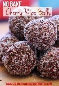 no - bake - cherry - ripe - balls - pinterest