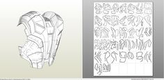 Papercraft .pdo file template for Iron Man - MK7 Full Armor.