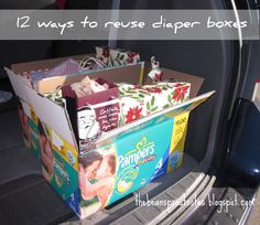 The Bean Sprout Notes: 12 Ways to Reuse Diaper Boxes