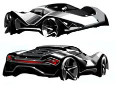 italiaspeed.com: Dino Competizione by Sasha Selipanov Car Design Sketch, Car Sketch, Automotive News, Automotive Design, Motor Works, Motor Car, Motor Vehicle, Car Tuning, Car Wheels