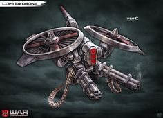 New drone unit for WAR COMMANDER that shipped as part of the game's Red Swarm event. ---------------- EDIT 4-18-13: Someone just pointed out that this piece was featured in DA's Feature article abo...
