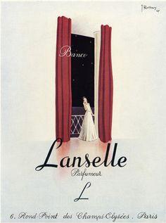 Illustration by J. Rottiers, 1945, Lanselle Perfime.