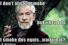 Sir Ian McKellan, a spoof on Dos Equis ads.
