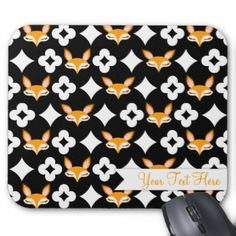 "Stylish & whimsical foxes make this a truly adorable mouse pad! Edit with your own name or message for a perfectly personalized mouse pad for your home, business or to give as a truly unique gift {{Click ""CUSTOMIZE"" to change background color, text color, font and for more editing options}} #pattern #cute #mousepad #mouse #mat #stylish #trendy #fox #foxes #gift #for #her #fun #vector #illustration #girly #mousemat #mouse #pad #office #desk #business #student #tween #teen #pretty #feminine…"